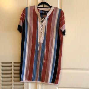 Forever 21 never worn stripped T-shirt dress